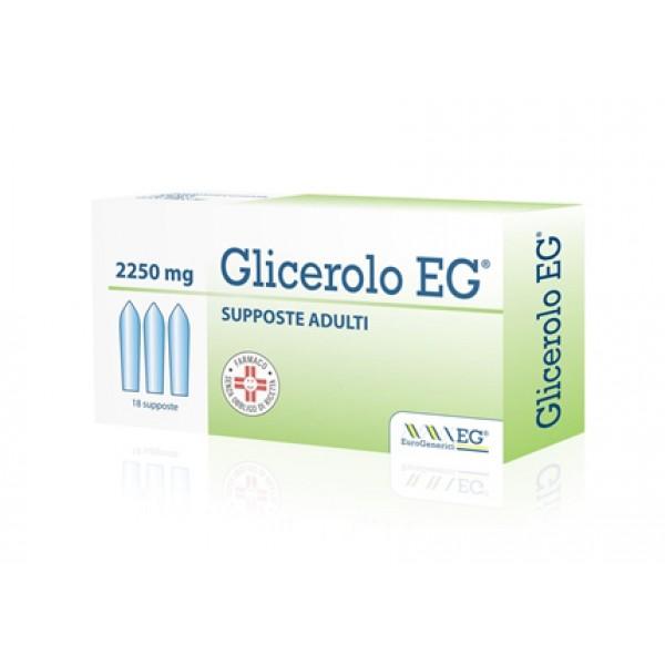 GLICEROLO EG*AD 18SUPP 2250MG