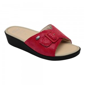 MANGO PATENT SUEDE W RED 36